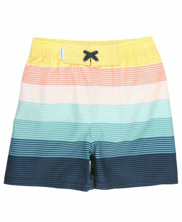 Rugged Butts Island Stripe Swim Trunks