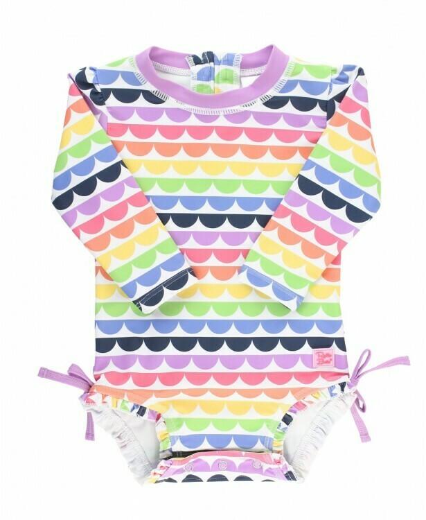 Ruffle Butts Baby Rainbow Swimsuit