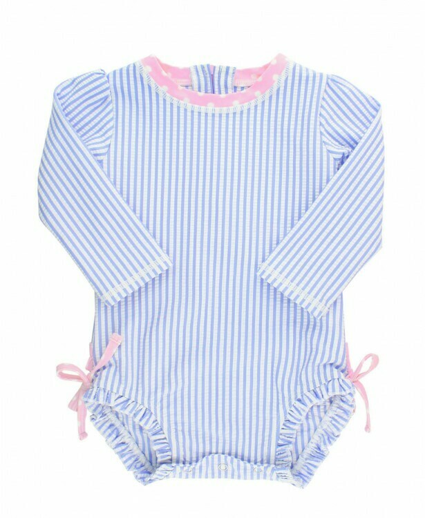 Ruffle Butts Baby Seersucker Swimsuit