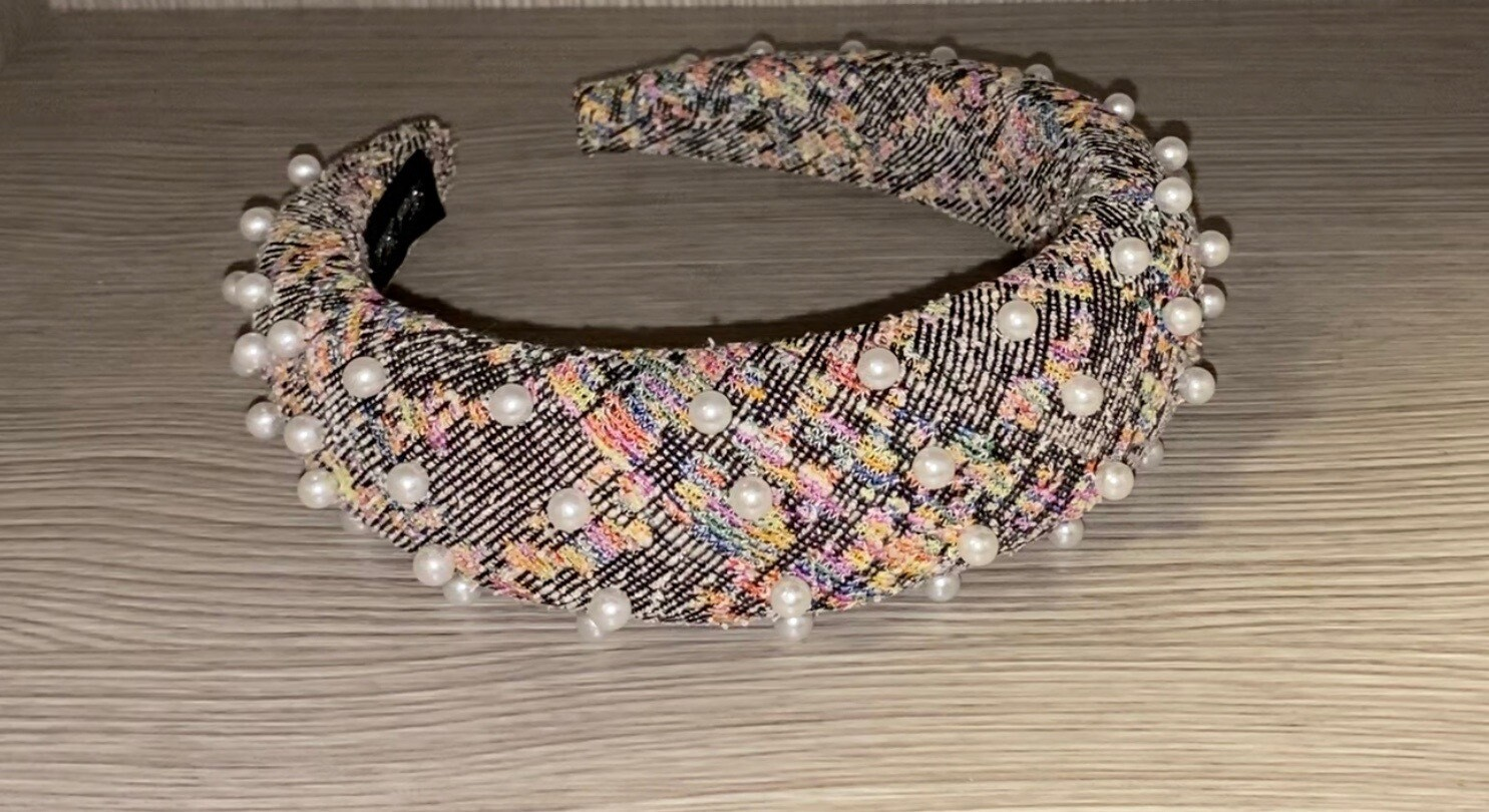 Multicolor Pearls Headband