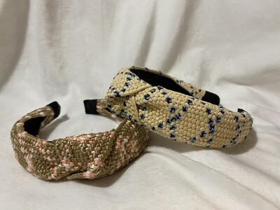 Raffia and Color Headband