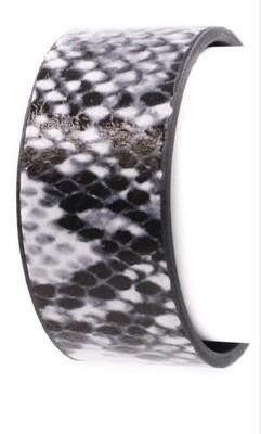 Snake print cuff bracelet