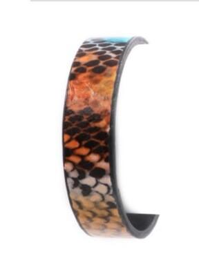 Snake print bangle bracelet