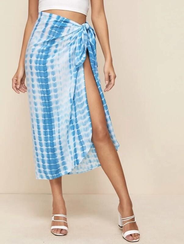 Tie Dye Cover Up Skirt