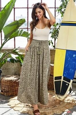 Leopard  Tassel Skirt