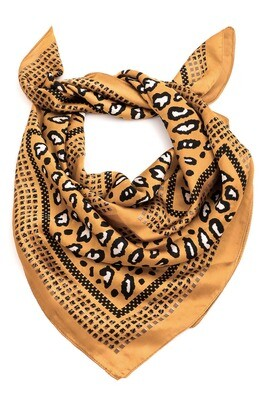 Yellow Leopard Bandana