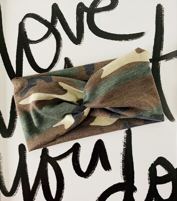 Original camo twist headband