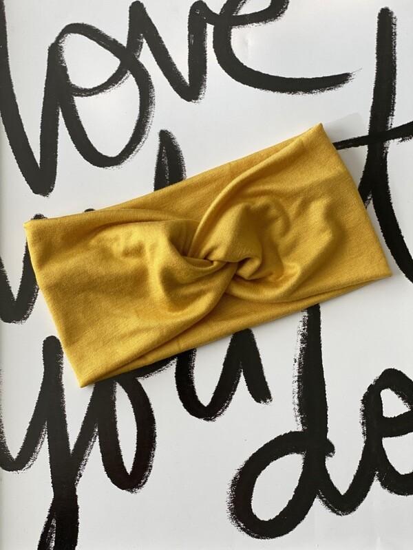 Mustard twist headband