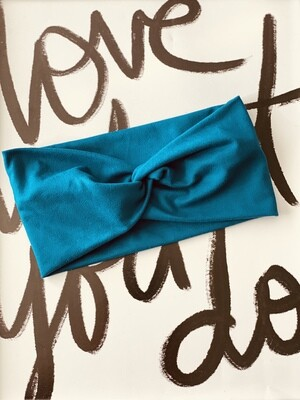Teal twist headband