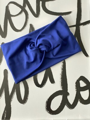 Royal blue twist headband