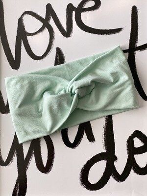 Mint twist headband