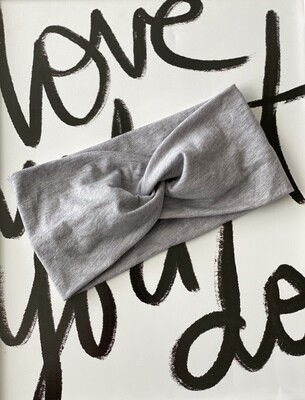 Heather grey twist headband