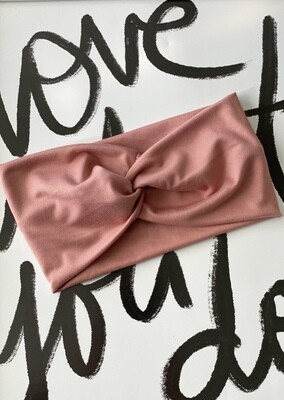 Light mauve twist headband