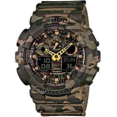 Casio G-Shock GA-100CM-5AER Unisex 51mm Resina/Camouflage Silicone Militare Militare Digitale 20ATM