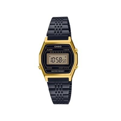 Casio LA690WGB-1DF Donna 25mm Acciaio/oro Acciaio Nero Nero Digitale