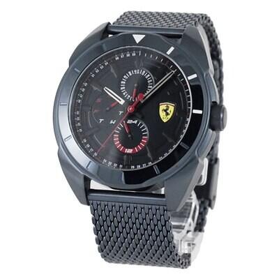 Ferrari FER0830638 Uomo 43mm Acciaio Brunito Acciaio Nero Brunito Quarzo Solo Tempo
