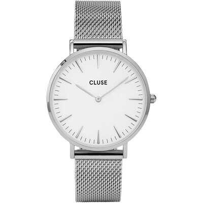 Cluse CW0101201002 Donna 38mm Acciaio/Silver Acciaio Bianco Silver Quarzo Solo Tempo 3ATM