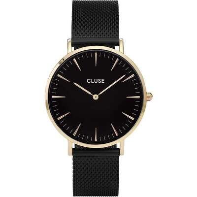 Cluse CW0101201008 Donna 38mm Acciaio/Oro Acciaio Nero Nero Quarzo Solo Tempo 3ATM
