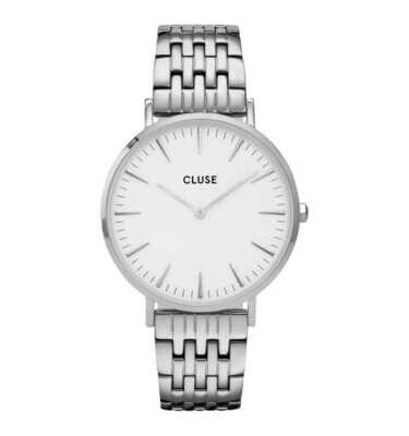 Cluse CW0101201023 Donna 38mm Acciaio/Silver Acciaio Bianco Silver Quarzo/Solo Tempo 5ATM