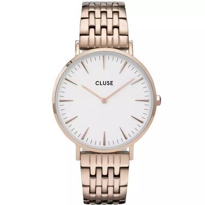 Cluse CW0101201024 Donna 38mm Acciaio/Ramato Acciaio Bianco Ramato Quarzo Solo Tempo 5ATM