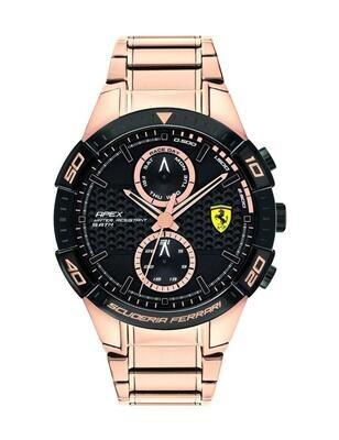 Ferrari FER0830640 Uomo 45,5mm Acciaio Ramato Acciaio Nero Ramato Quarzo Cronografo 5ATM