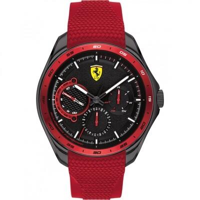 Ferrari FER0830681 Uomo 44mm Acciaio Nero Silicone Nero Rosso Quarzo Multifunzione 5ATM