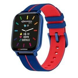 Superga SW-STC001 Uomo 40mm Acciaio/Blu Sillicone Digitale Blu Rosso Smartwatch ip68