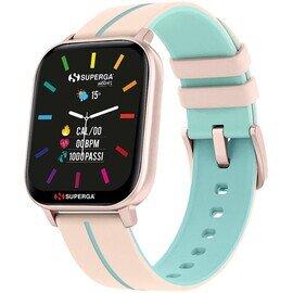 Superga SW-STC006 Donna 40mm Acciaio Rosa Silicone Digitale Rosa Antico Azzurro Smartwatch ip68