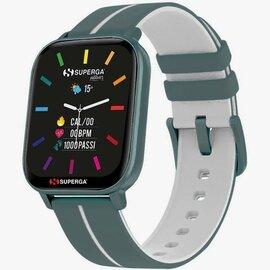 Superga SW-STC009 Donna 40mm Acciaio Azzurro Silicone Digitale Azzurro Bianco Smartwatch ip68
