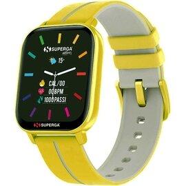 Superga SW-STC010 Donna 40mm Acciaio Senape Silicone Digitale Senape Grigio Smartwatch ip68
