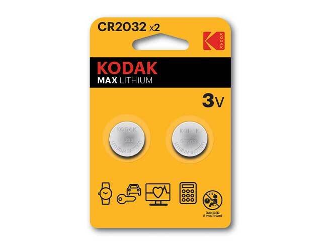 KODAK PILA LITIO 2pz CR2032 KB2182