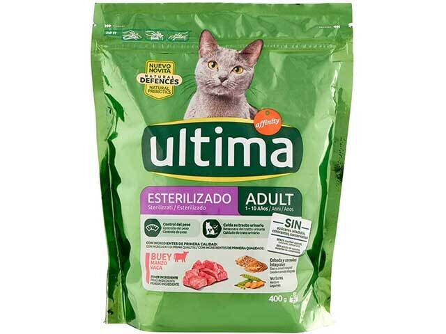 ULTIMA CAT STERILIZ MANZO 400gr 25942