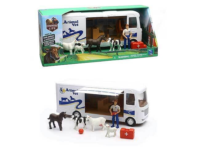 """AUTO 1:18 CAMPING """"ANIMAL VET"""" PLAY SET WITH 37646"""