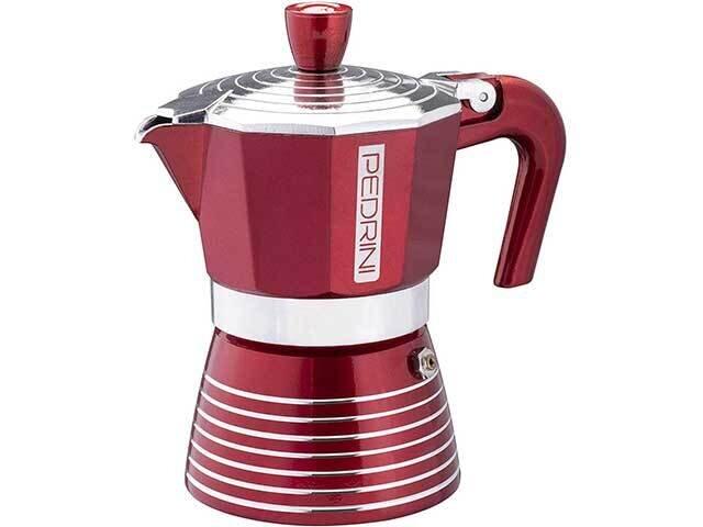 CAFFETTIERA 3TZ.VERNICIATA ROSSO 02CF115
