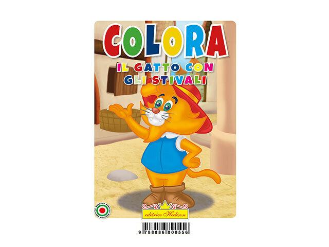 LIBRO COLORA IL GATTO Con GLI STIVALI 0556