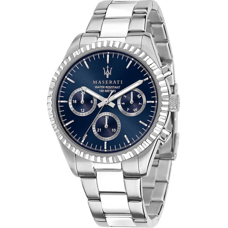 Maserati R8853100022 C Uomo 43mm Acciaio Silver Acciaio Blu Silver Quarzo Cronografo 10ATM