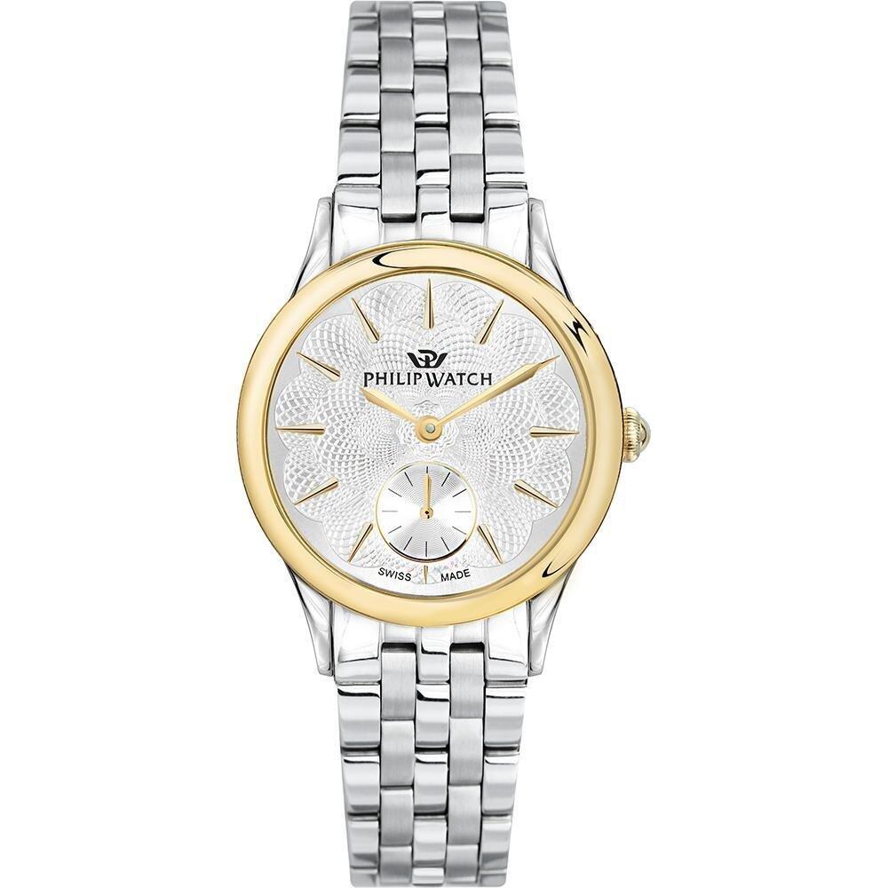 Philip Watch R8253596504 Donna 39mm Acciaio/Silver Acciaio Silver Silver Quarzo/Solo Tempo 5ATM