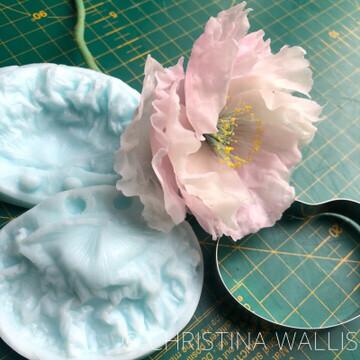 Poppy Flower Veiner & Cutter Set