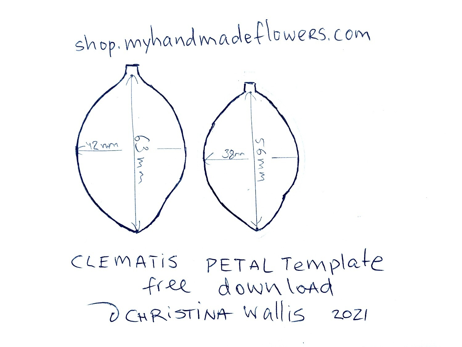 FREE Download: CLEMATIS Cut out TEMPLATE