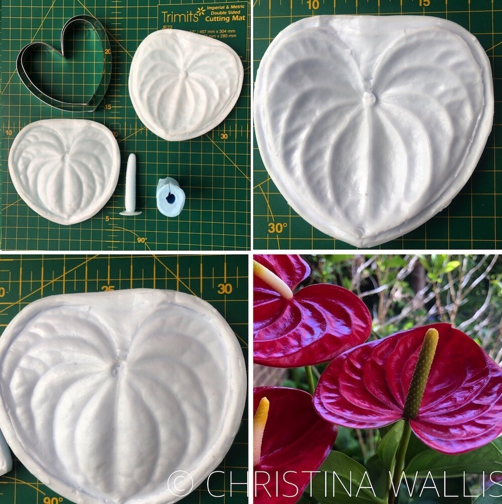 ANTHURIUM LILY Veiner set of 2+ 2 Cutters ( Optional )