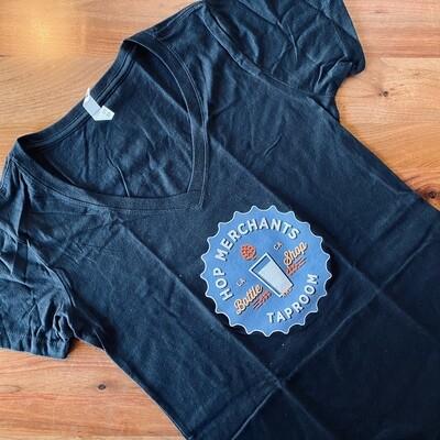 T-Shirt- BLACK LOGO WOMEN (Large)