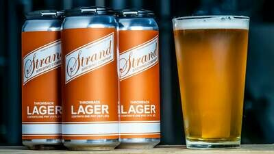 Strand Brewing Throwback Lager