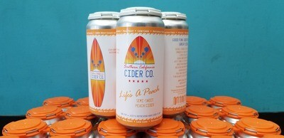 SoCal Cider company Life's A Peach