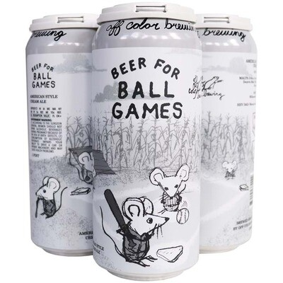 Off Color Brewing Beer For Ball Games
