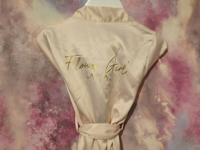 Childrens Bridal Party Robes