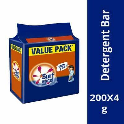 Surf Excel Detergent Bar 4*200g