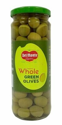 Delmonte Whole Green Olives 450g