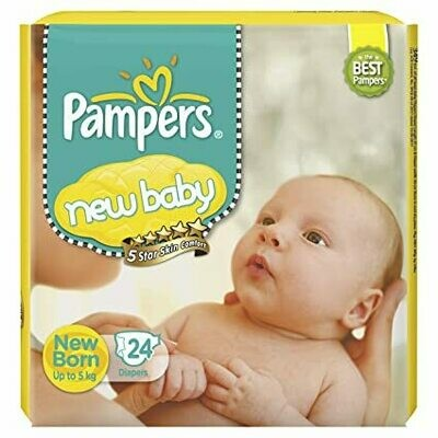 Pampers New Baby Diapers up to 5kg 24 Diapers