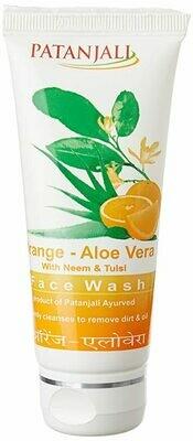 Patanjali Orange-Aloe Vera Face Wash 60g