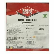 Right Buy Red Chilli Whole 500g